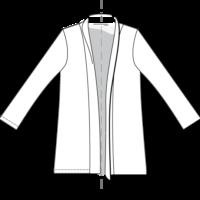 dessin technique veste Cannelle Christelle Beneytout