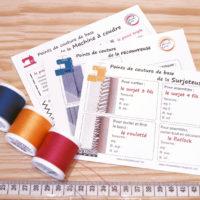 carte mémo points de couture machine à coudre Christelle Beneytout