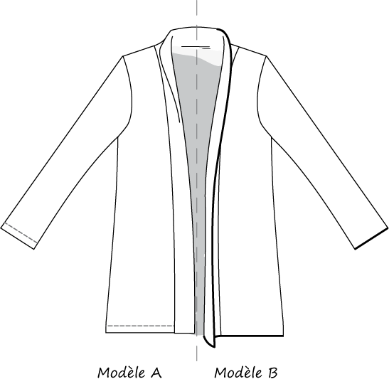 dessin technique veste Cannelle Christelle Beneytout
