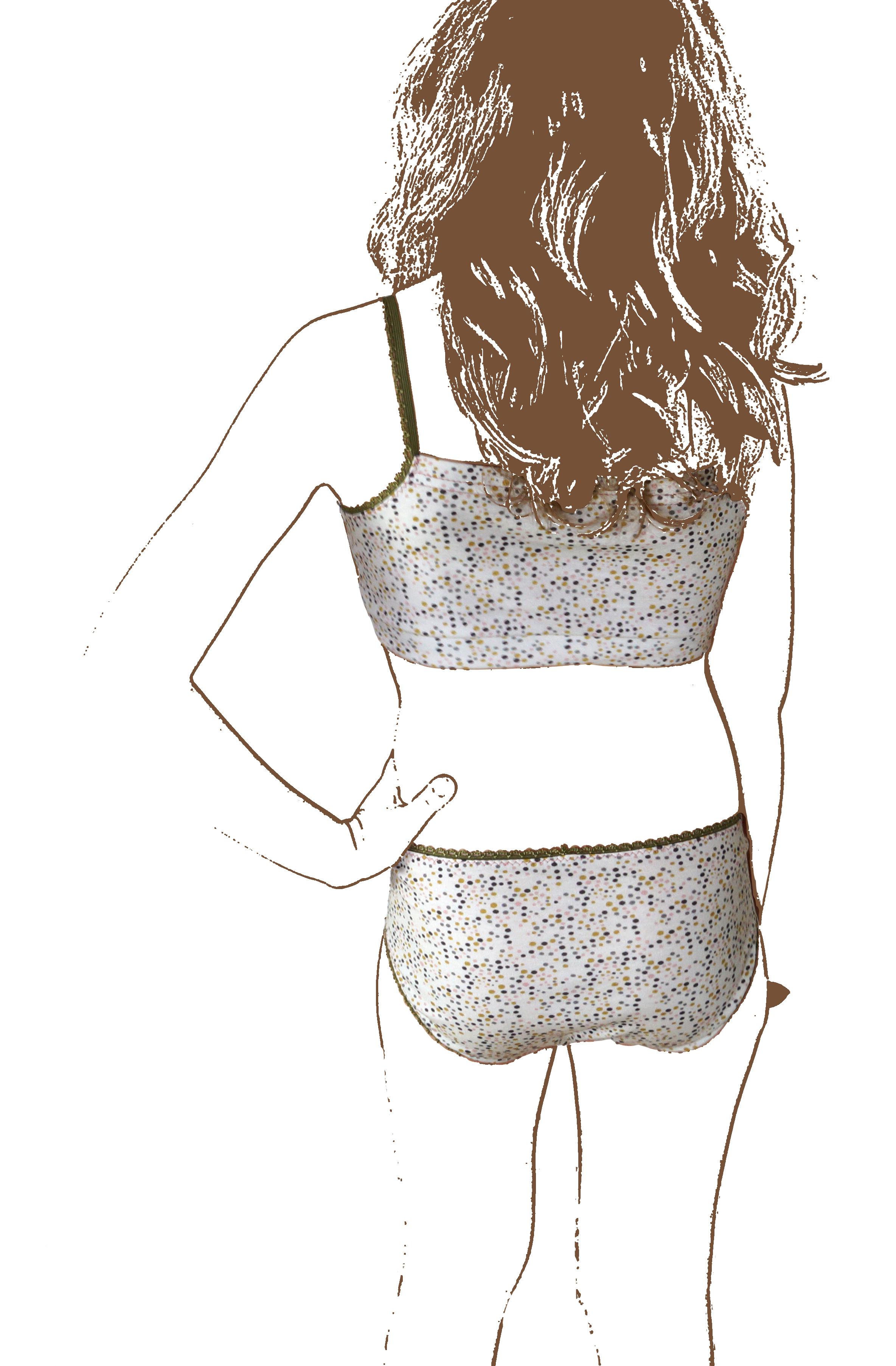 Vanille : patron de culotte et brassière pour adolescente