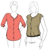 blouse bergamote patron de couture christelle coud christelle Beneytout
