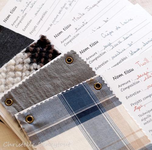 carte apprendre et organiser ses tissus - couture - christelle beneytout