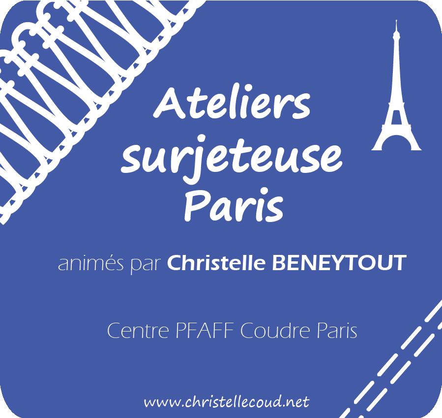 atelier surjeteuse recouvreuse jersey cours de couture Christelle BENEYTOUT PARIS
