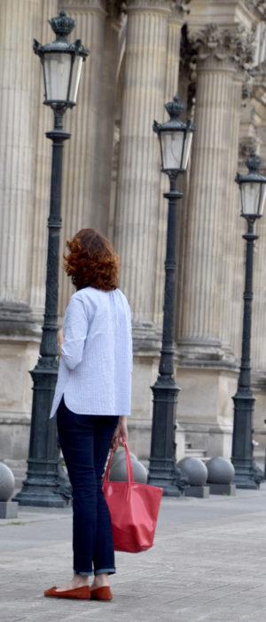 blouse bergamote christelle beneytout en seersucker france duval stalla