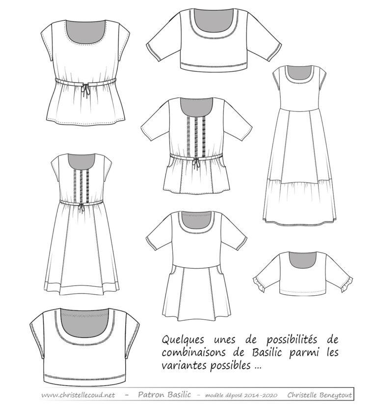 Blouse er robe Basilic patron de couture Christelle BENEYTOUT