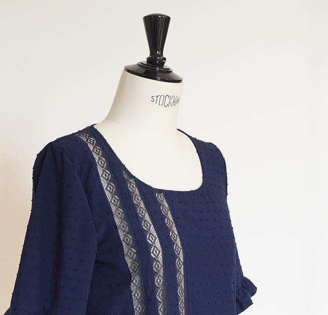 blouse dentelle basilic christelle beneytout